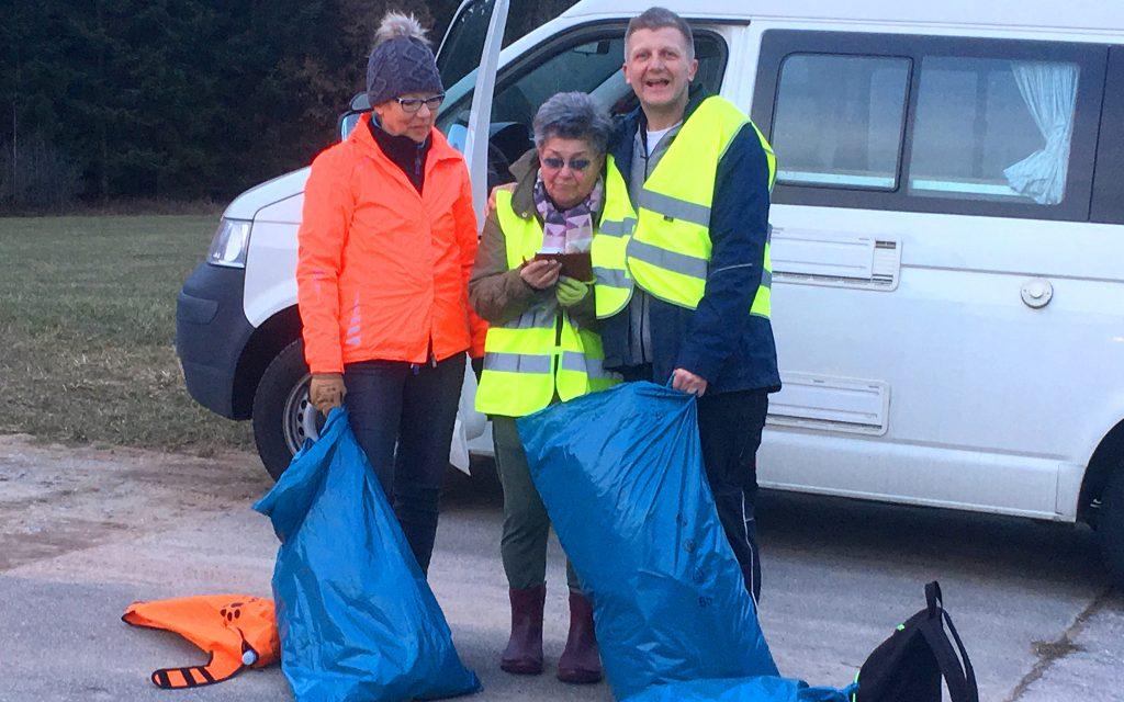 Ellenberger Dorfputzete - Müll sammeln