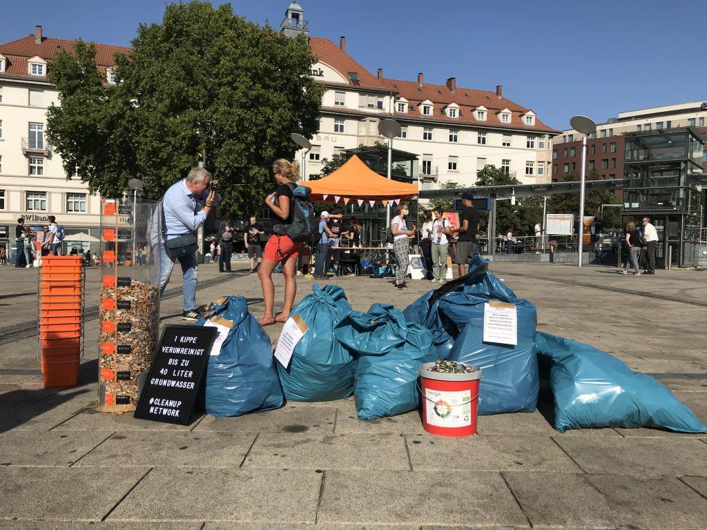 360 Liter Müll beim World Cleanup Day 2020