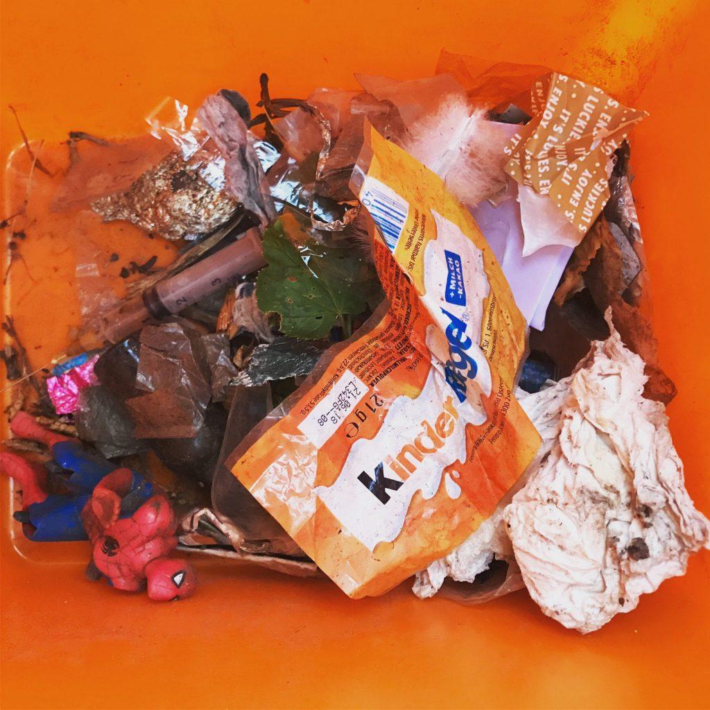 gefährlicher Müllfund beim Cleanup