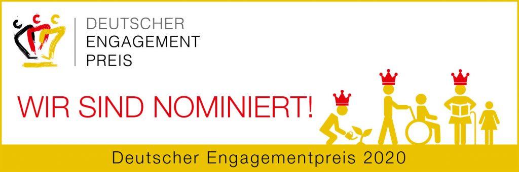 Wir sind nominiert Websticker Engagementpreis