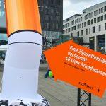 """Sauberes Stuttgart: Öffentlichkeitskampagne """"Stuttgart macht's rein"""" auf dem Schlossplatz"""
