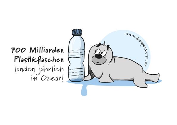 Plastikflaschen im Meer