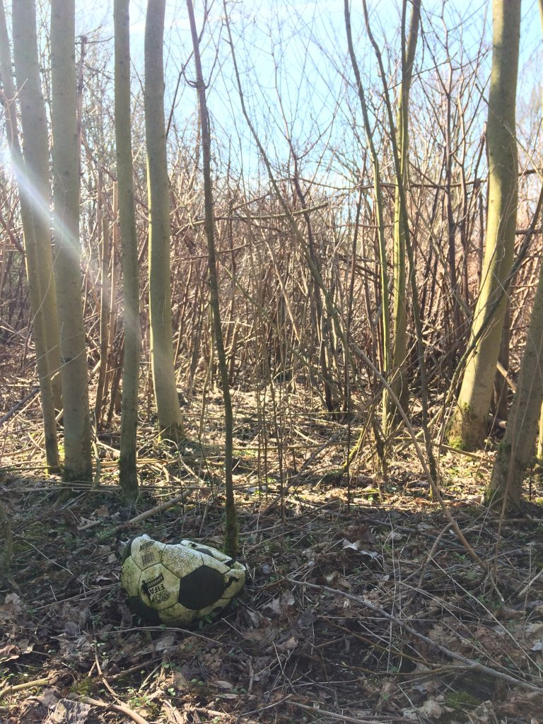 bochum bolzt müll fußball in wald