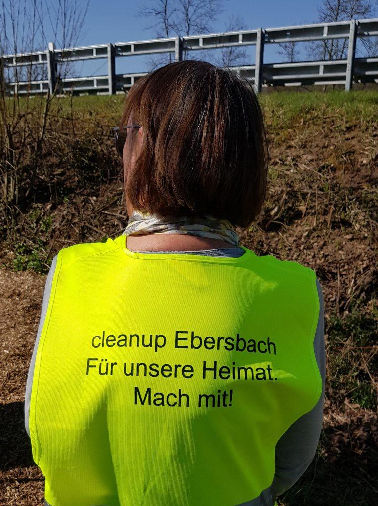 cleanup ebersbach weste slogan