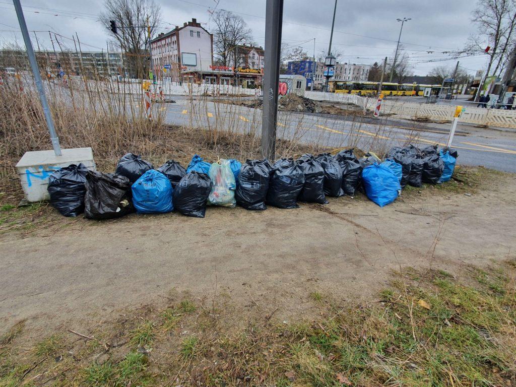 Cleanup Trepnick gesammelter müll verlin