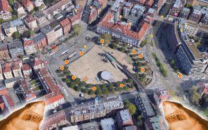 Der Marienplatz bekommt mehr und neue Mülleimer – wir durften die Positionen mitbestimmen