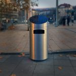 Die neuen Mülleimer am Stuttgarter Marienplatz sind da
