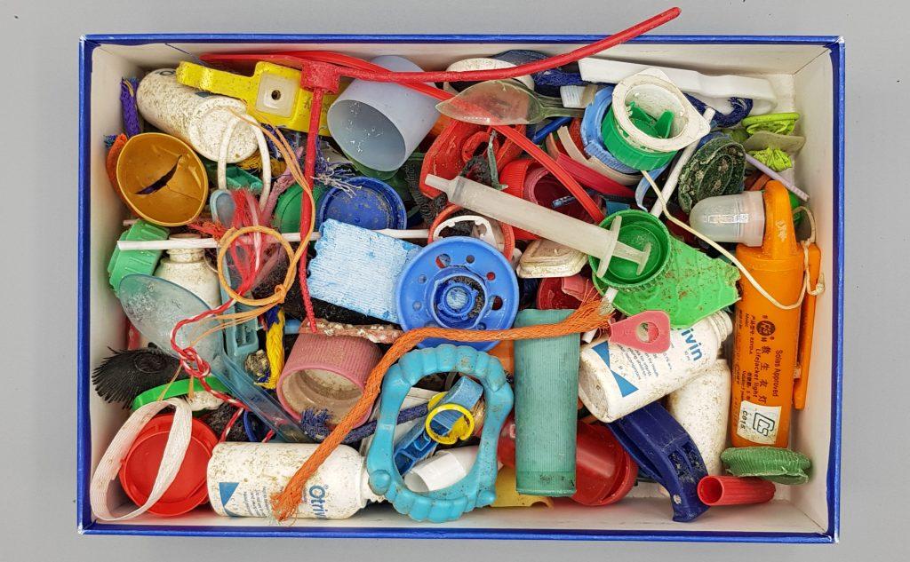 gesammelter plasikmüll verschiedene Kunststoffsorten
