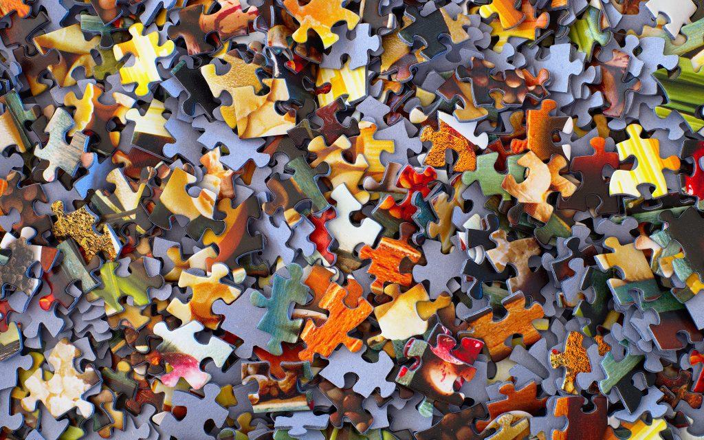 Puzzleteile Netzwerk Gesellschaft