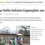 Stuttgarter Zeitung berichtet über Cleanup am Eugensplatz