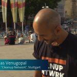 SWR Aktuell berichtet über unser Cleanup am Marienplatz