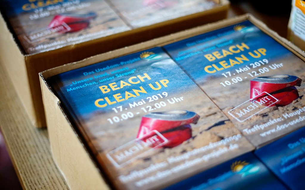 flyer beach cleanup usedom