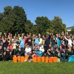 World Cleanup Day 2019 in Stuttgart - mit Filmteam, geretteten Lebensmitteln und Impfstoff für Kinder in Liberia
