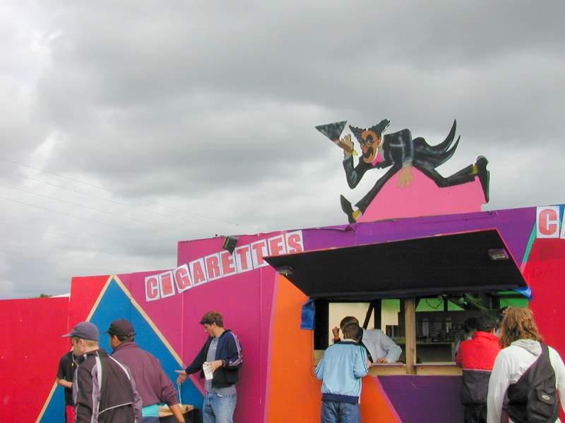 Zigarettenstand an Festival
