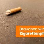 Zigarettenpfand/Kippenpfand - Interview mit dem Ideengeber des Pfands auf Zigaretten